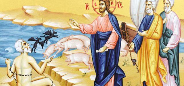 """DESPRE """"DEMONIZAȚII"""" DE AZI CUVÂNTUL IERARHULUI Duminica a XXIII-a după Rusalii (Demonizatul din Gherghese – Luca 8, 26-39) La o primă lectură, evanghelia de astăzi ar putea părea inutilă și […]"""